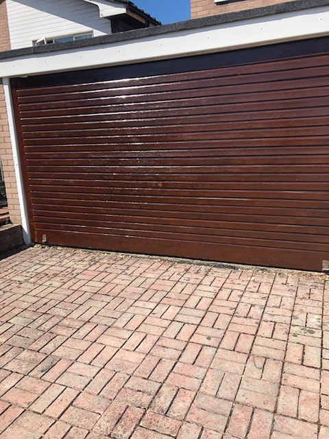 Garage Door and Exterior Wood Cladding painted in Stanmore