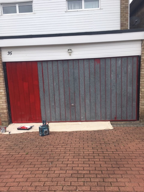 Garage Door Painted Hatch End